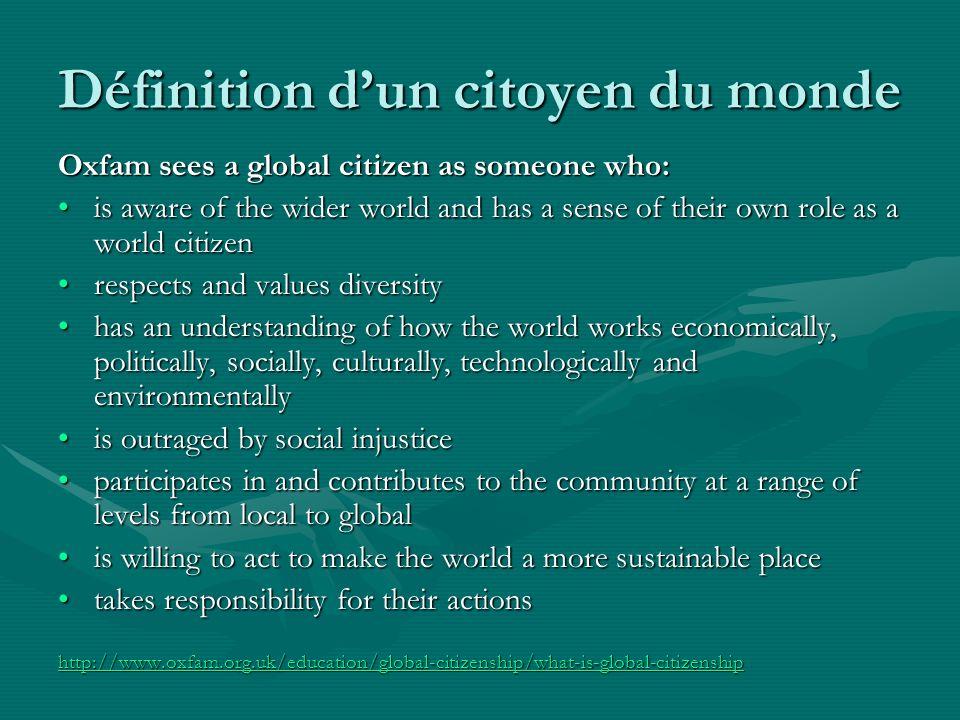 Définition d'un citoyen du monde