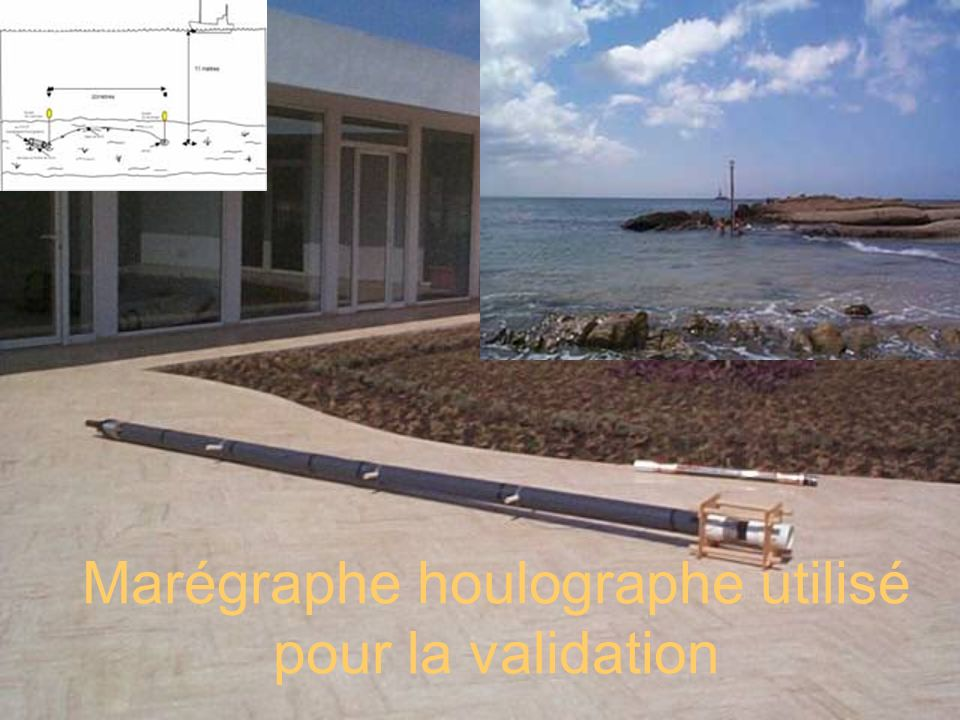 Marégraphe houlographe utilisé pour la validation