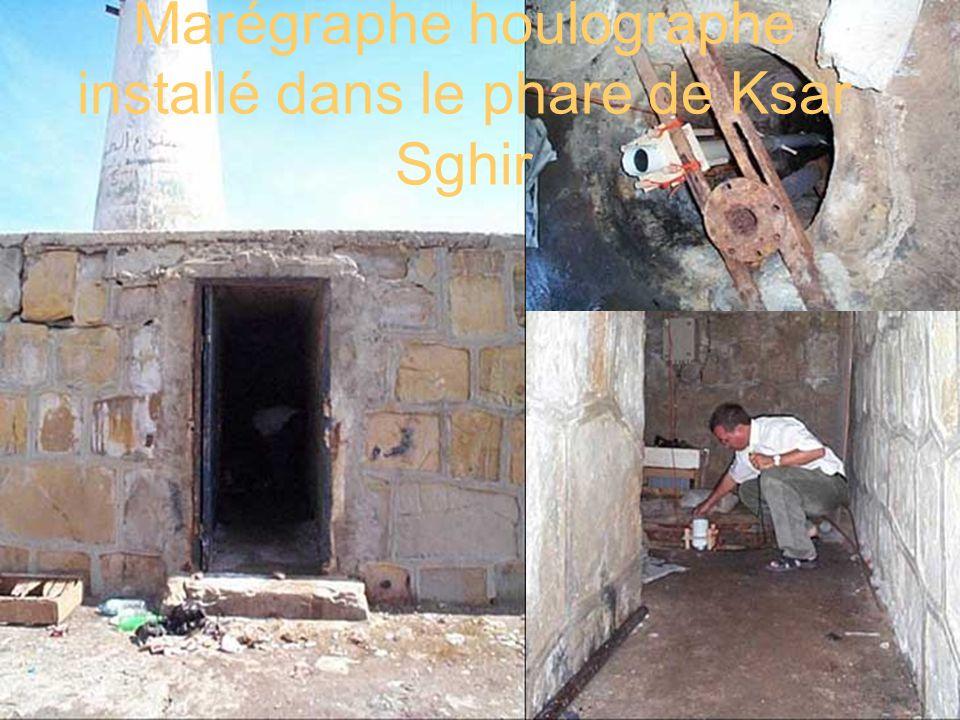 Marégraphe houlographe installé dans le phare de Ksar Sghir