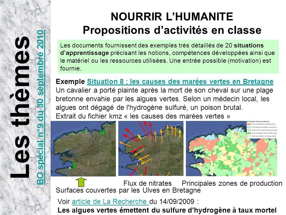 Propositions d'activités en classe BO spécial n°9 du 30 septembre 2010
