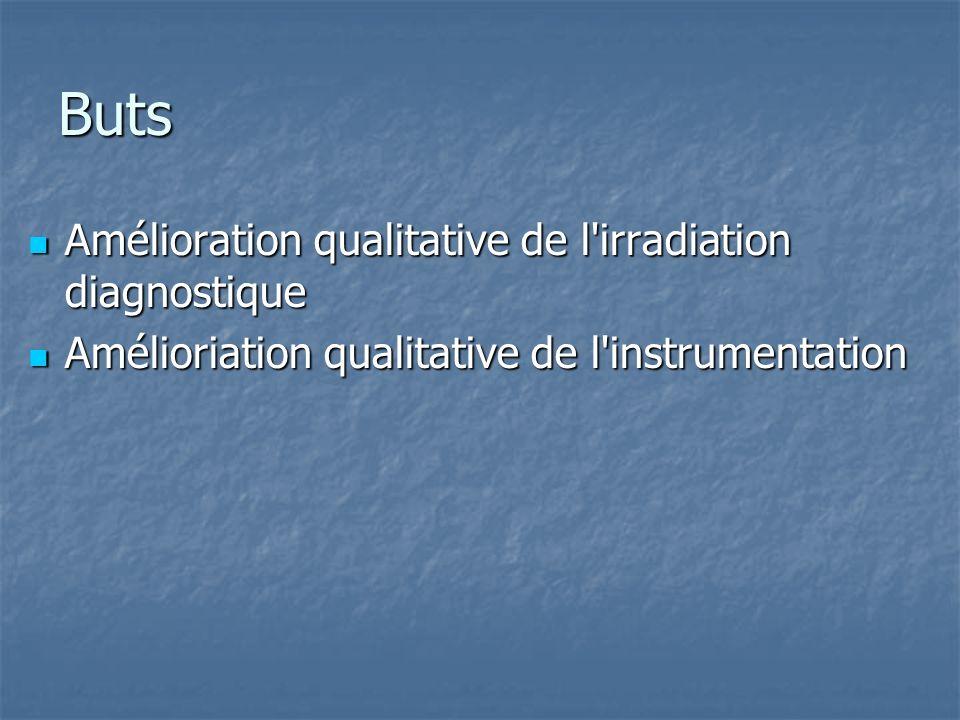 Buts Amélioration qualitative de l irradiation diagnostique