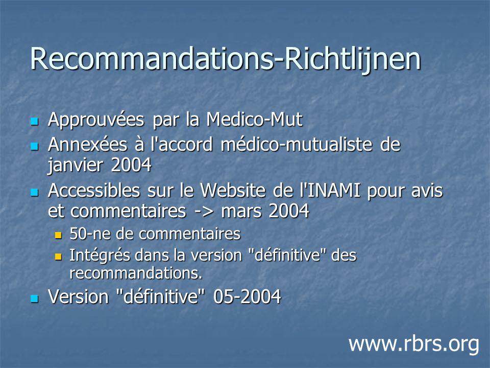 Recommandations-Richtlijnen