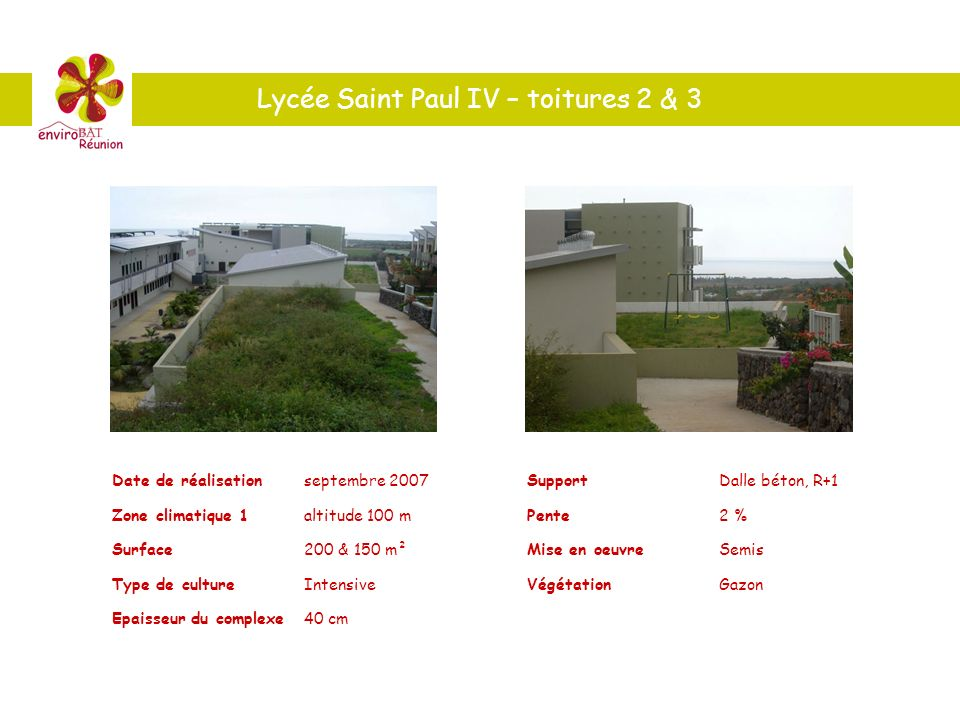 Lycée Saint Paul IV – toitures 2 & 3