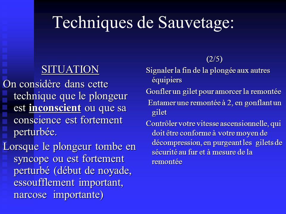 Techniques de Sauvetage:
