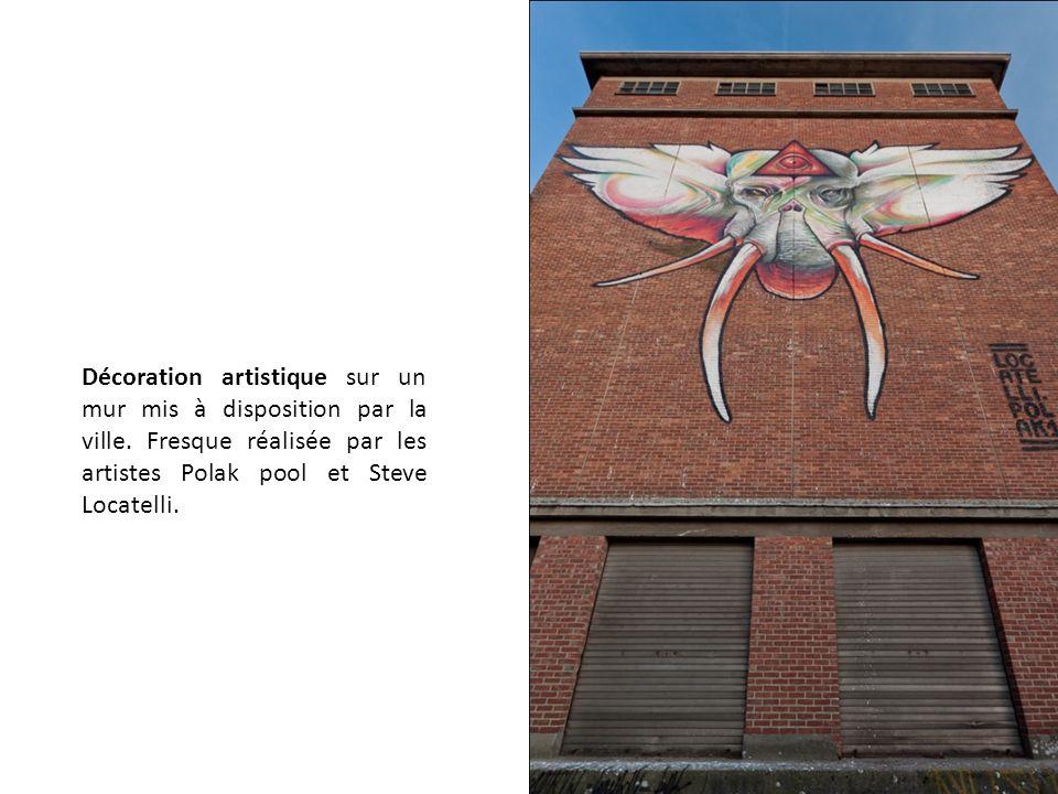Décoration artistique sur un mur mis à disposition par la ville