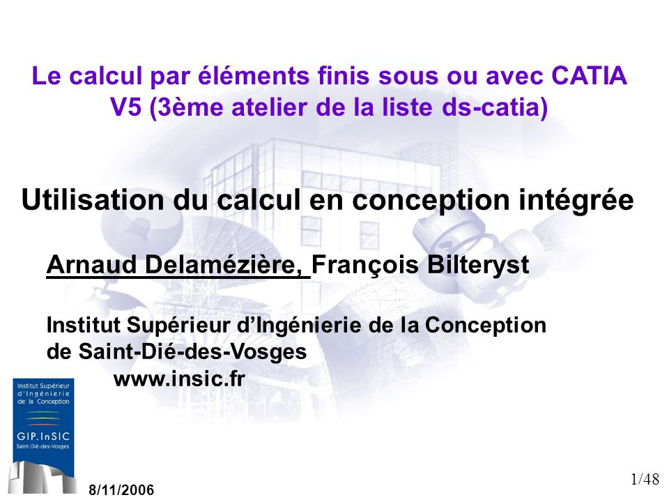 Utilisation du calcul en conception intégrée