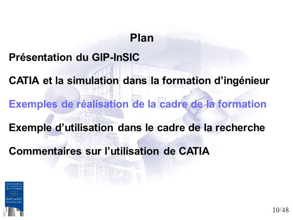 Plan Présentation du GIP-InSIC