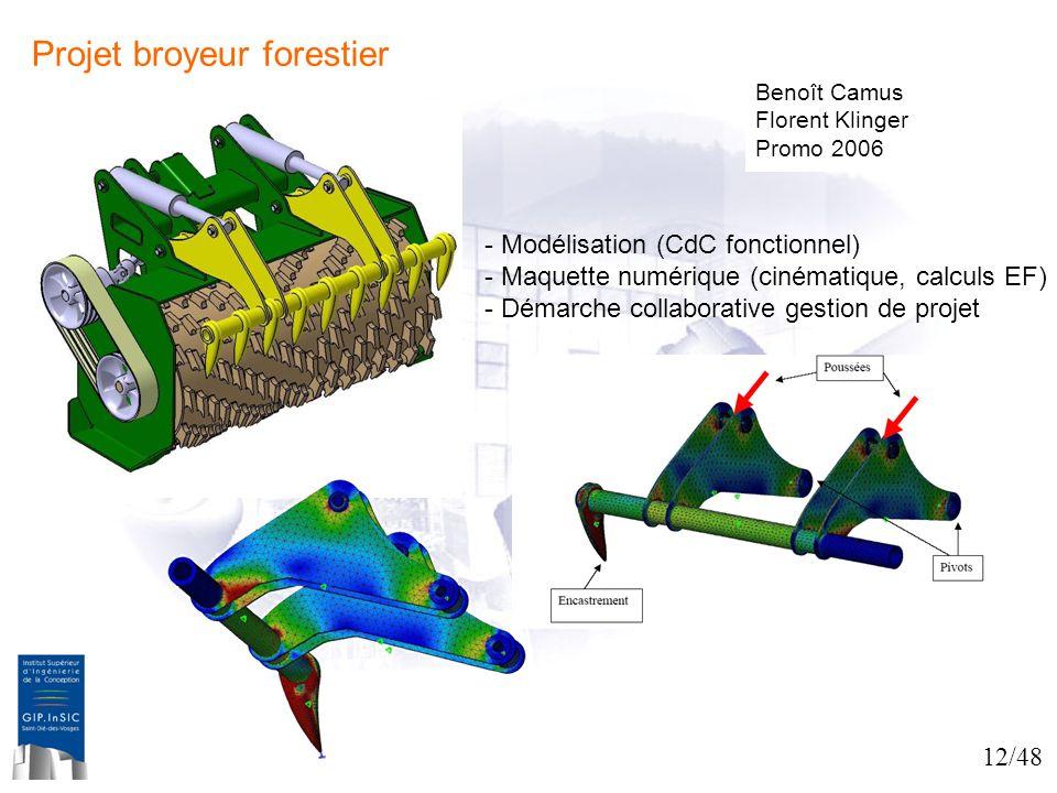 Projet broyeur forestier