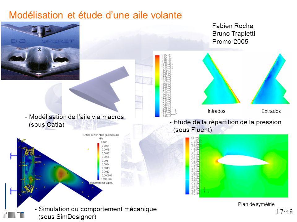 Modélisation et étude d'une aile volante