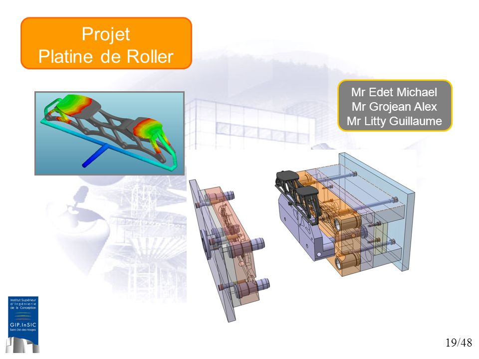 Projet Platine de Roller Mr Edet Michael Mr Grojean Alex