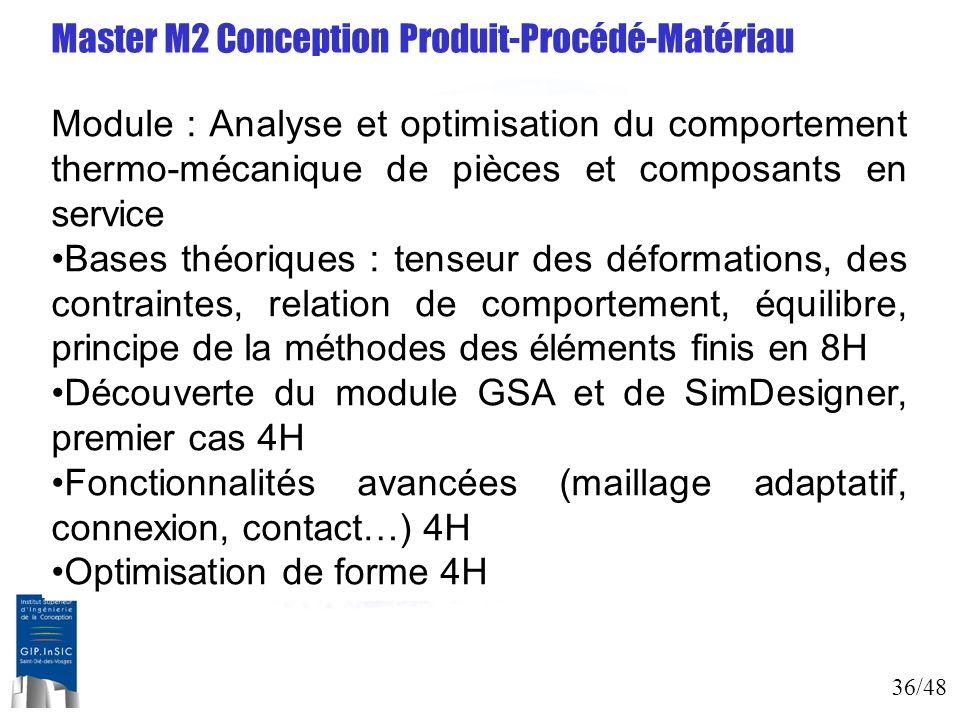 Master M2 Conception Produit-Procédé-Matériau