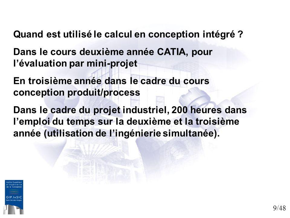 Quand est utilisé le calcul en conception intégré