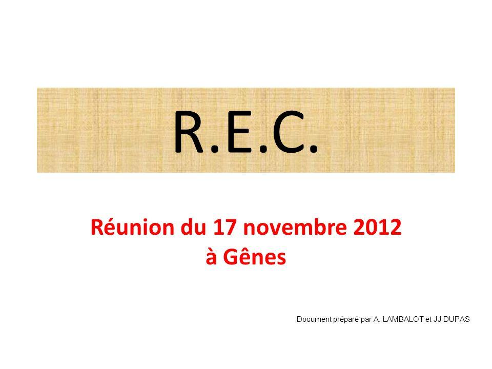 Réunion du 17 novembre 2012 à Gênes