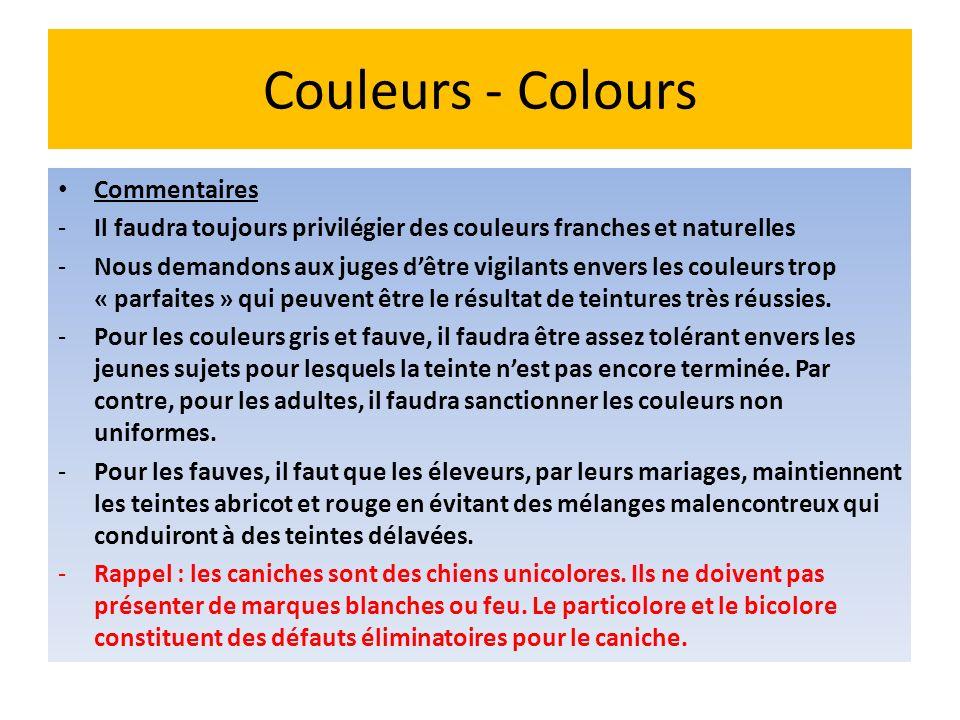 Couleurs - Colours Commentaires