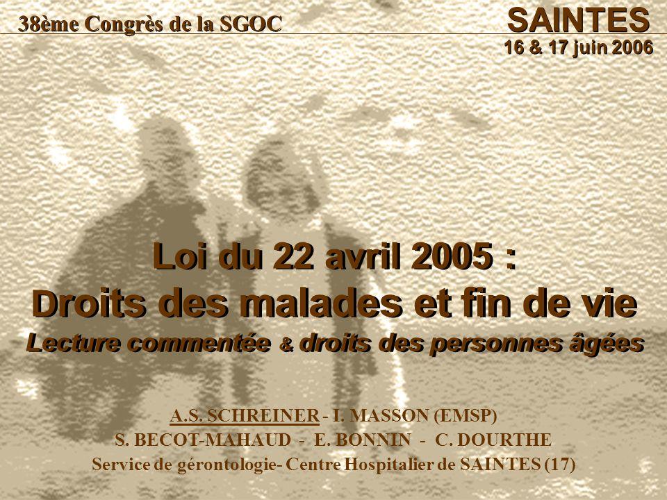 SAINTES 16 & 17 juin 2006. 38ème Congrès de la SGOC.