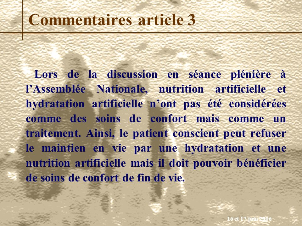 Commentaires article 3