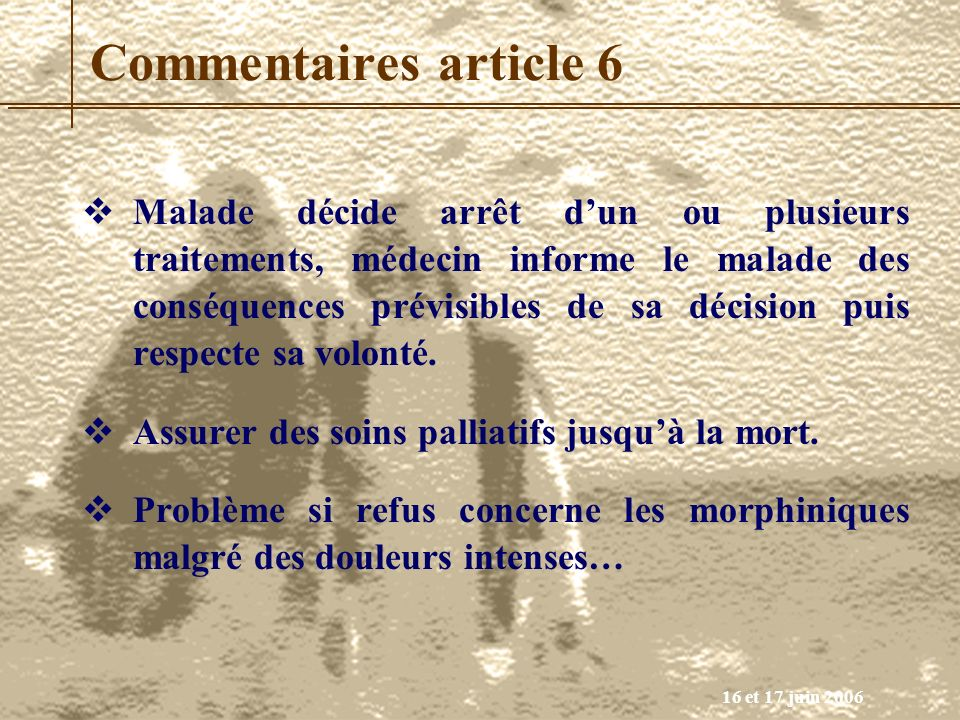 Commentaires article 6