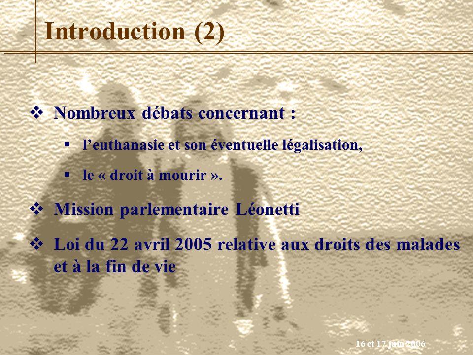 Introduction (2) Nombreux débats concernant :