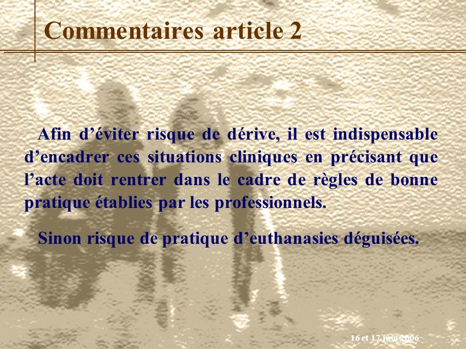 Commentaires article 2