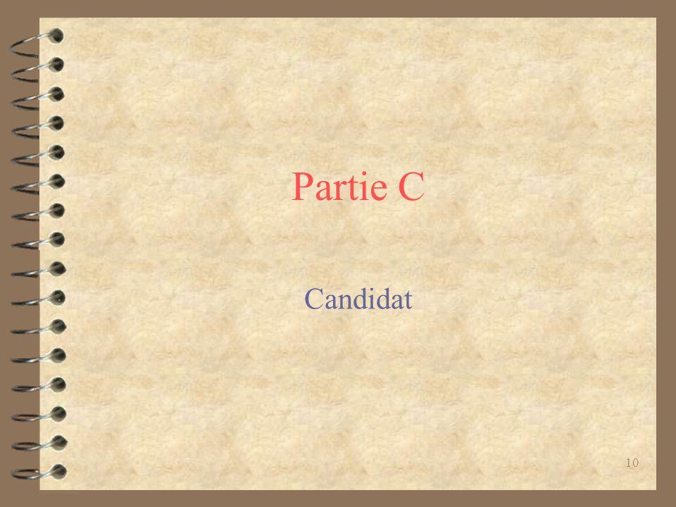 Partie C Candidat