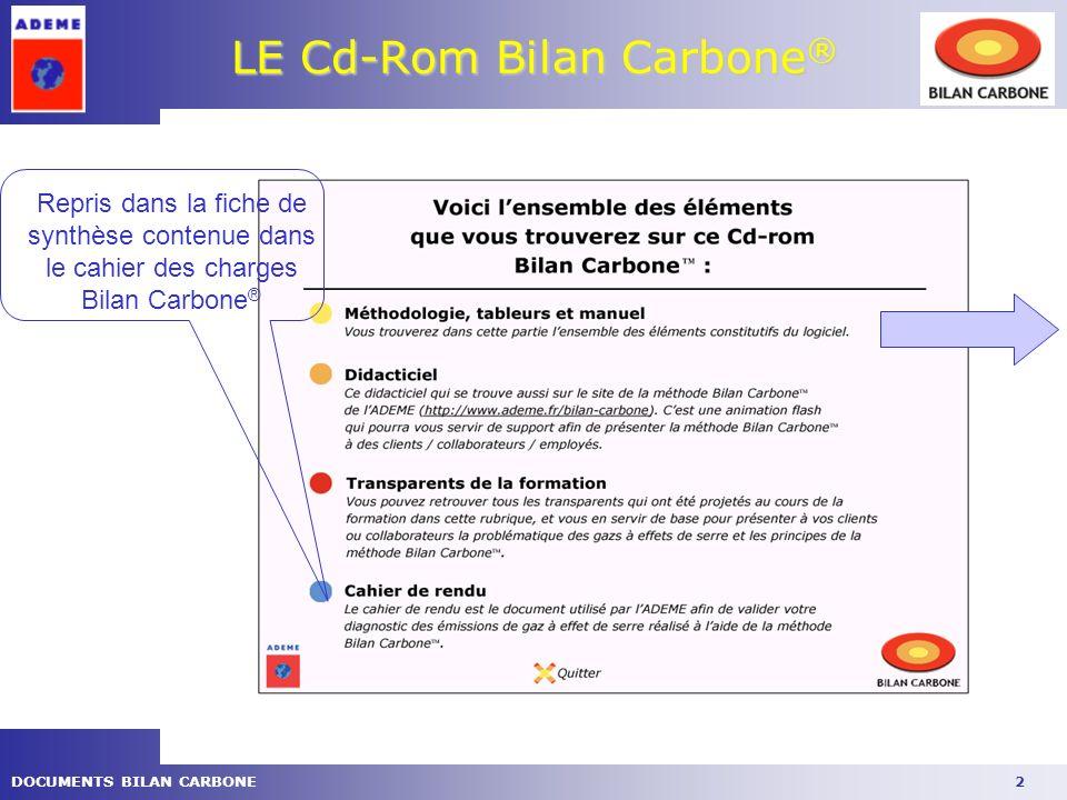 LE Cd-Rom Bilan Carbone®
