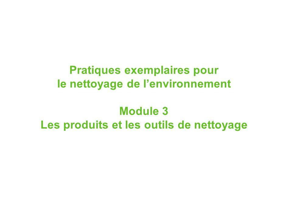 Pratiques exemplaires pour le nettoyage de l'environnement Module 3