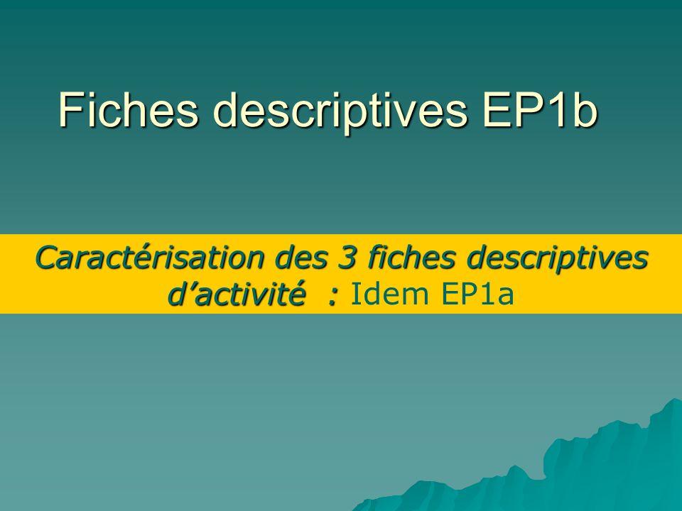 Fiches descriptives EP1b