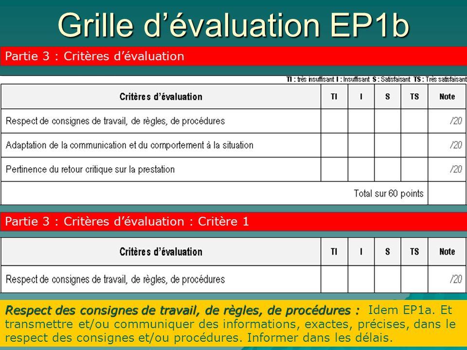 Grille d'évaluation EP1b