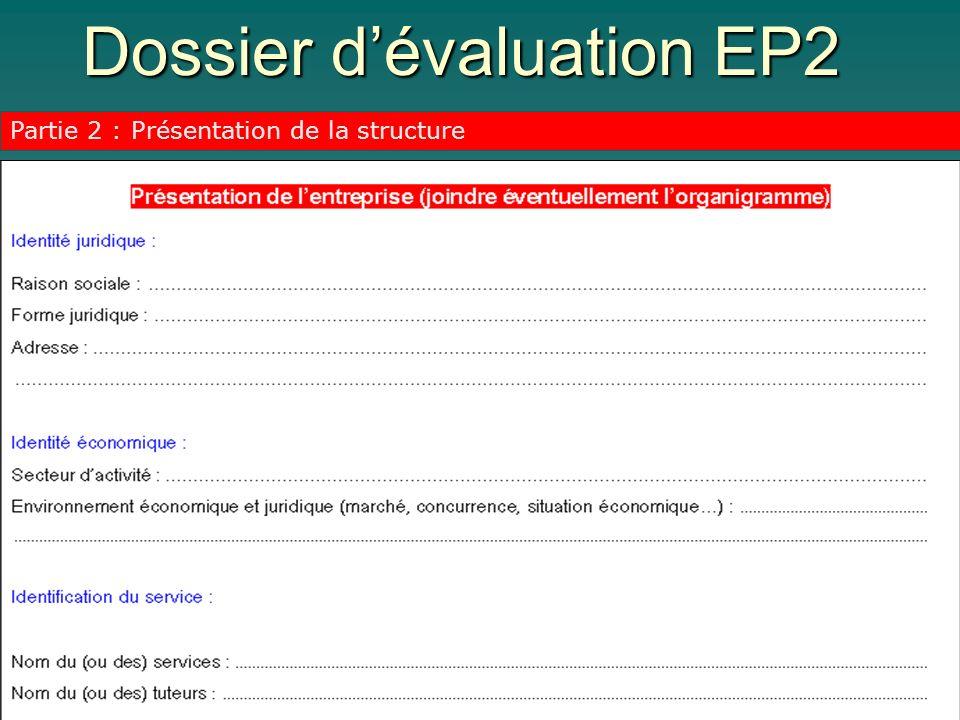 Dossier d'évaluation EP2
