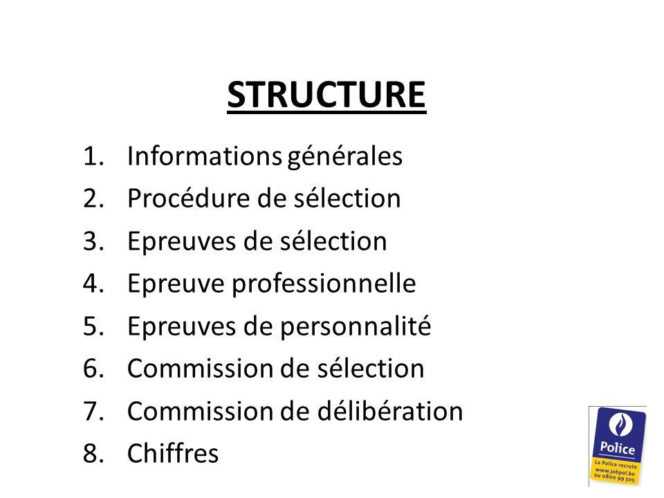 STRUCTURE Informations générales Procédure de sélection
