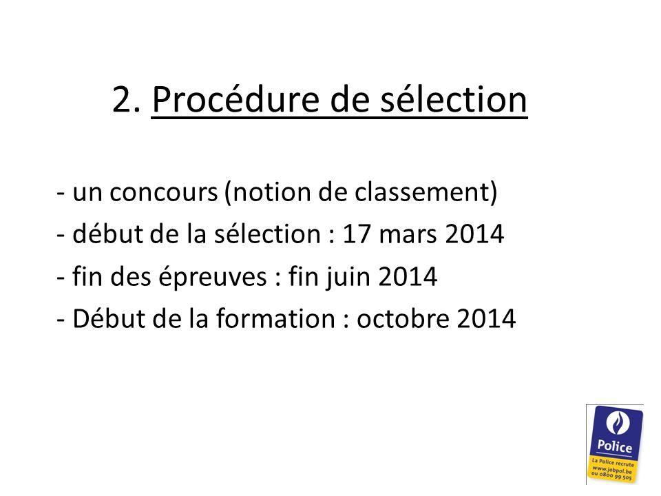 2. Procédure de sélection