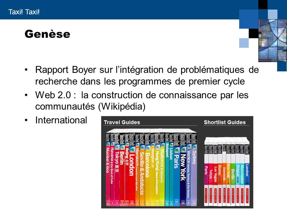Genèse Rapport Boyer sur l'intégration de problématiques de recherche dans les programmes de premier cycle.