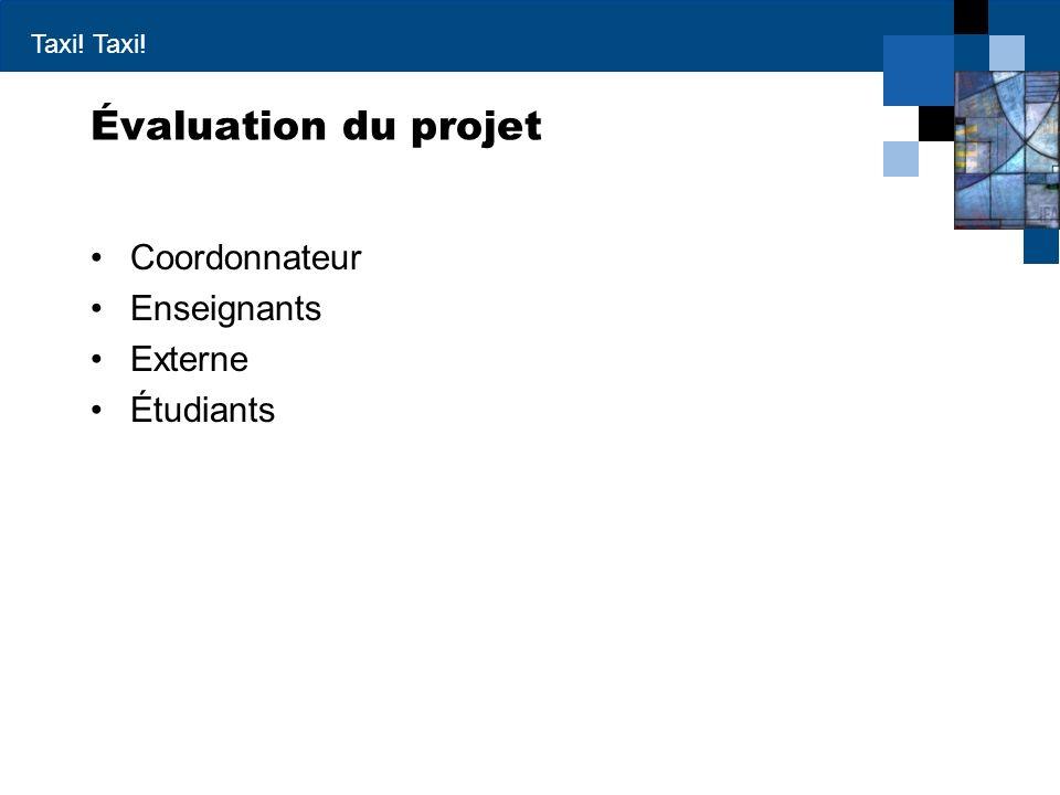 Évaluation du projet Coordonnateur Enseignants Externe Étudiants