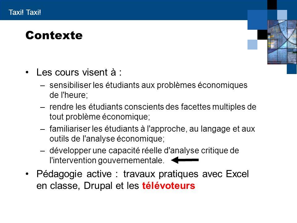Contexte Les cours visent à :