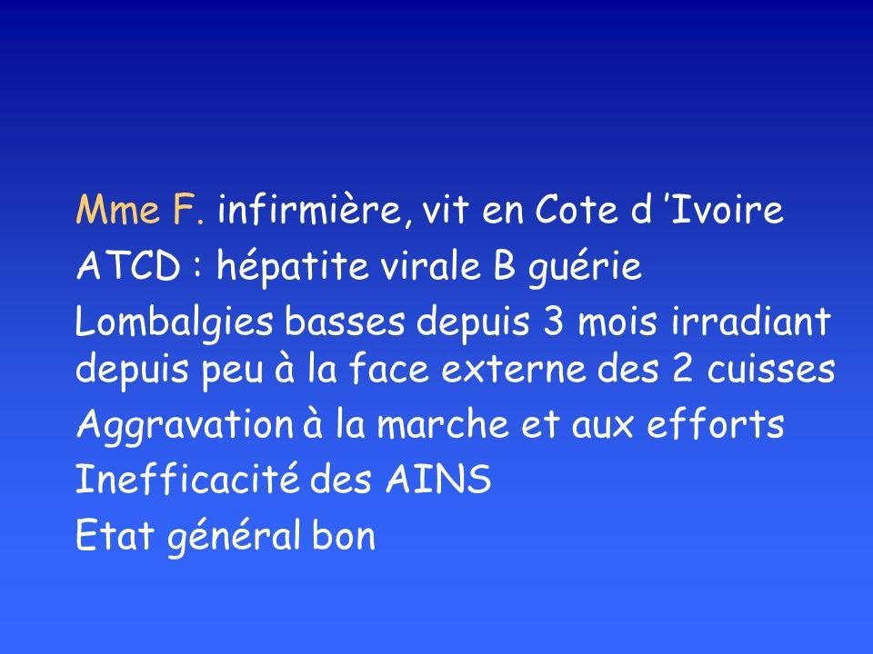 Mme F. infirmière, vit en Cote d 'Ivoire