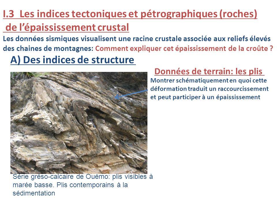 I.3 Les indices tectoniques et pétrographiques (roches)