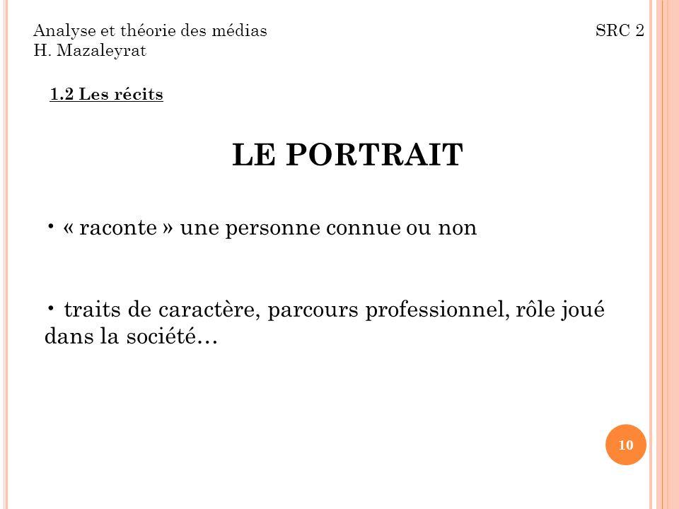 LE PORTRAIT « raconte » une personne connue ou non