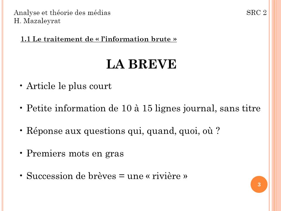 LA BREVE Article le plus court