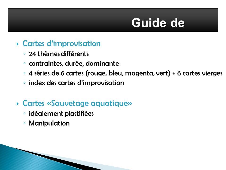 Guide de l'enseignant Cartes d'improvisation