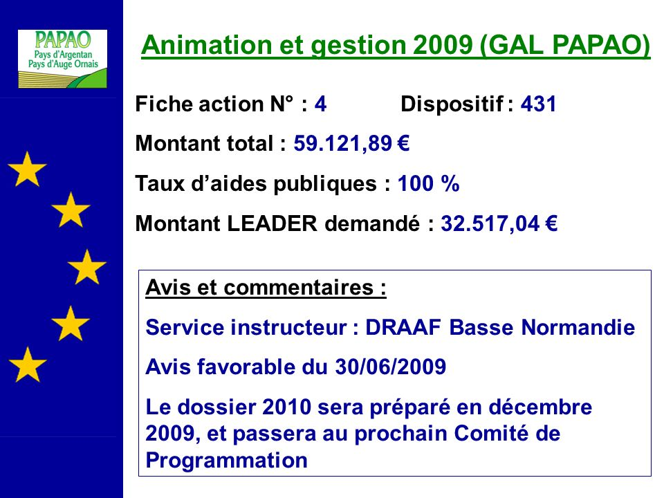 Animation et gestion 2009 (GAL PAPAO)