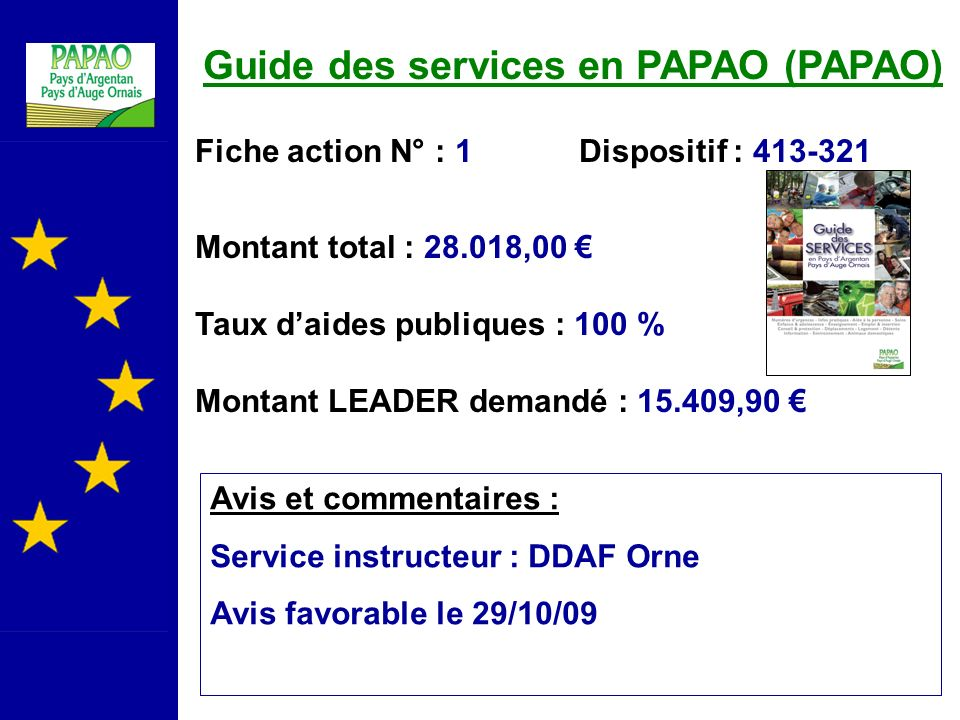 Guide des services en PAPAO (PAPAO)