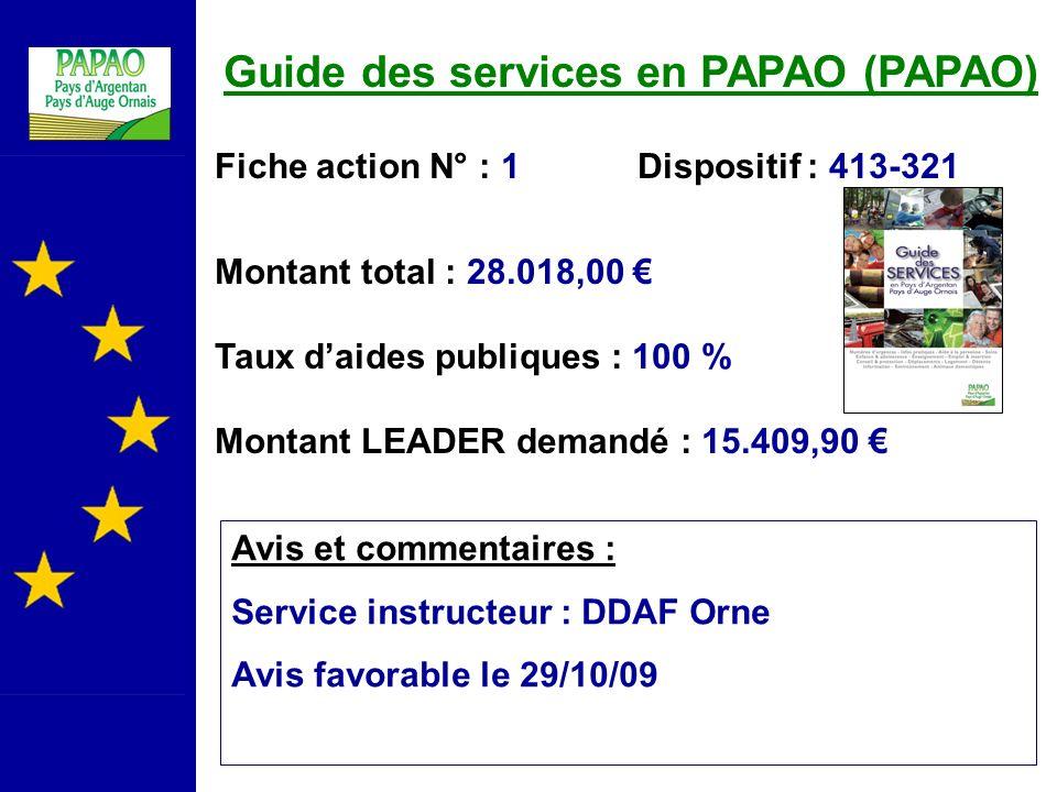 Guide des services en PAPAO (PAPAO)