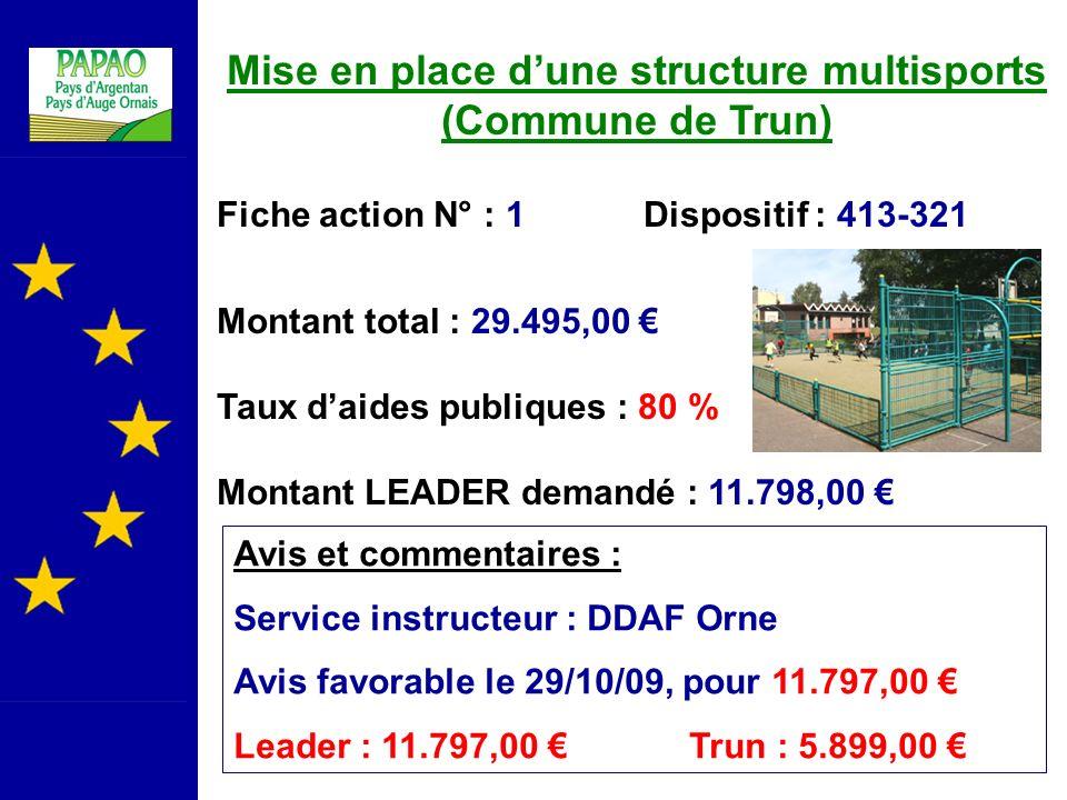Mise en place d'une structure multisports (Commune de Trun)