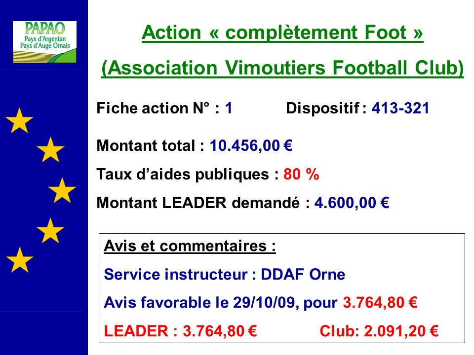 Action « complètement Foot » (Association Vimoutiers Football Club)