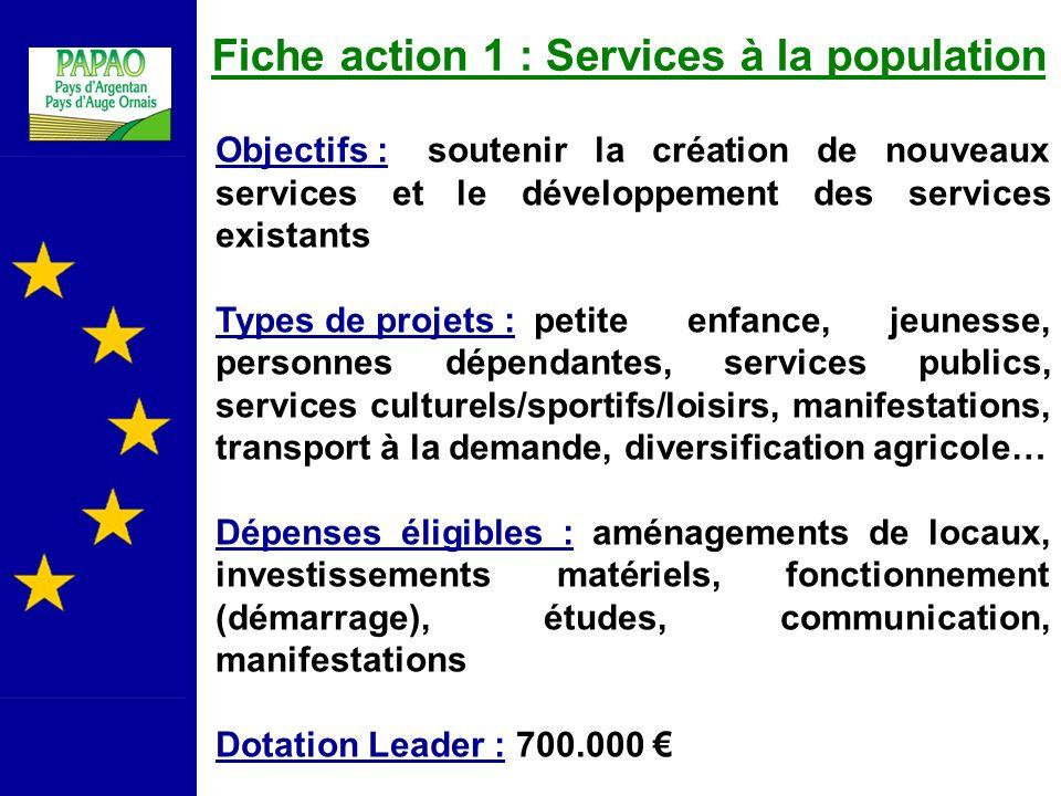 Fiche action 1 : Services à la population
