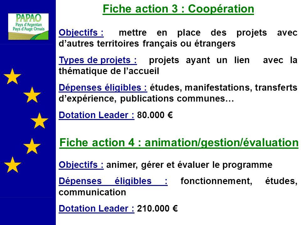 Fiche action 3 : Coopération