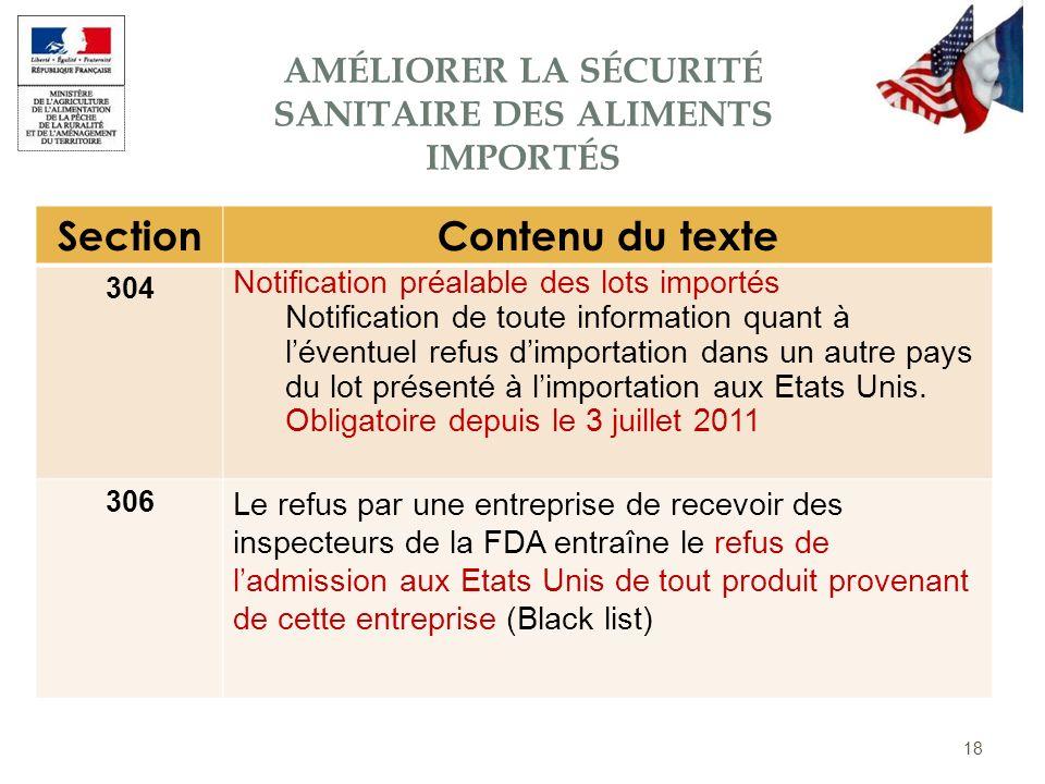 Améliorer la sécurité sanitaire des aliments importés