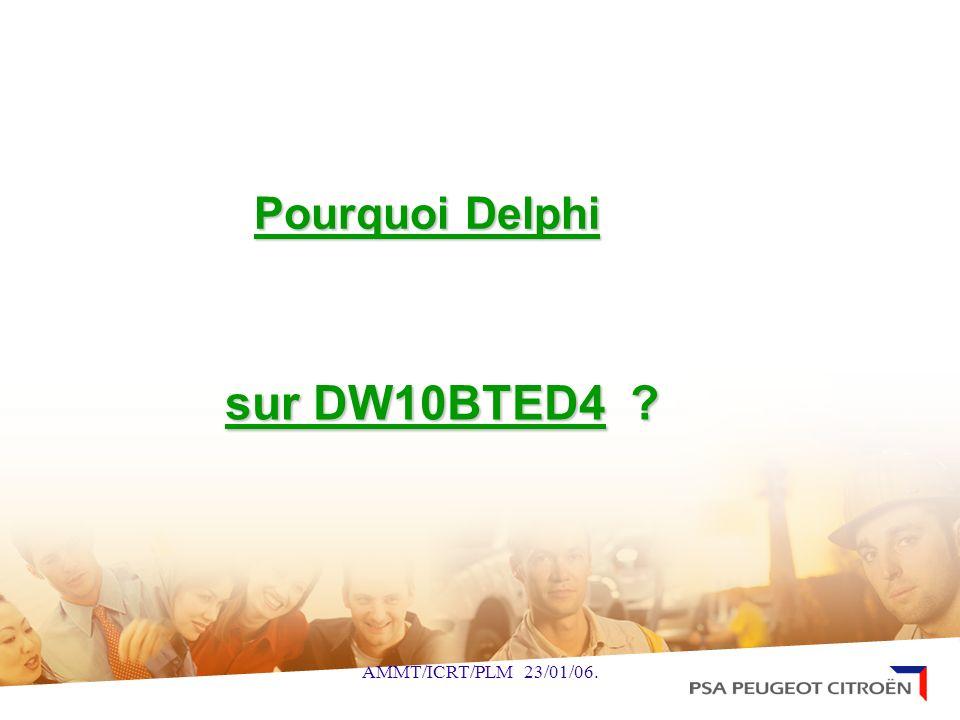 Pourquoi Delphi sur DW10BTED4 AMMT/ICRT/PLM 23/01/06.
