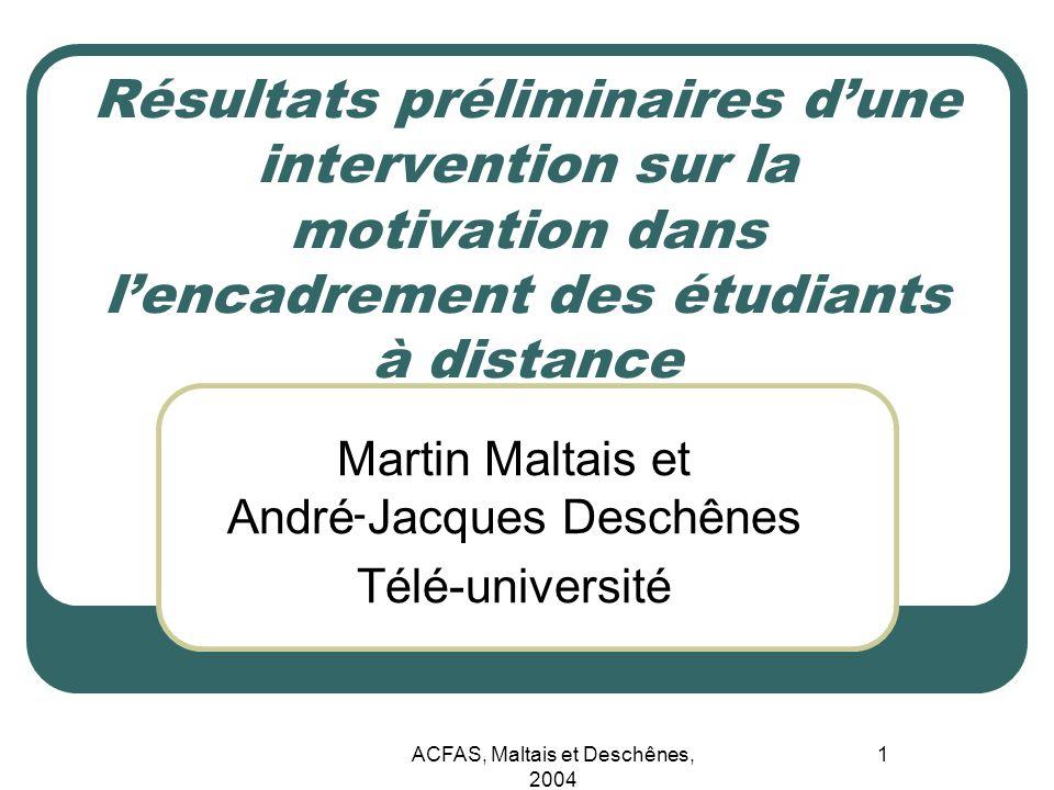 Martin Maltais et André־Jacques Deschênes Télé-université