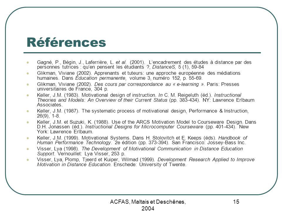 ACFAS, Maltais et Deschênes, 2004